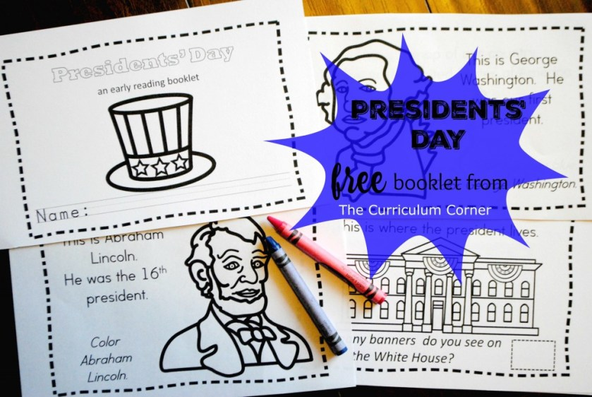 Presidents' Day Booklet Early Reader FREE from The Curriculum Corner