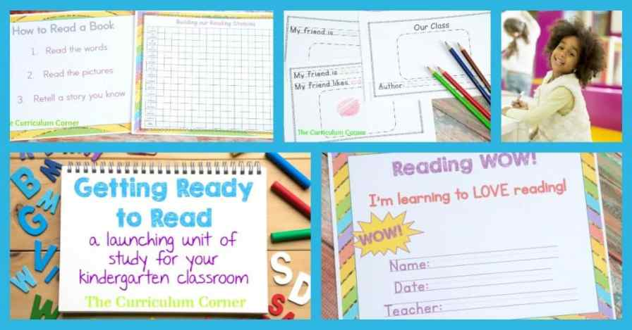 FREEBIE! Getting ready to read launching reading workshop for kindergarten unit of study from The Curriculum Corner