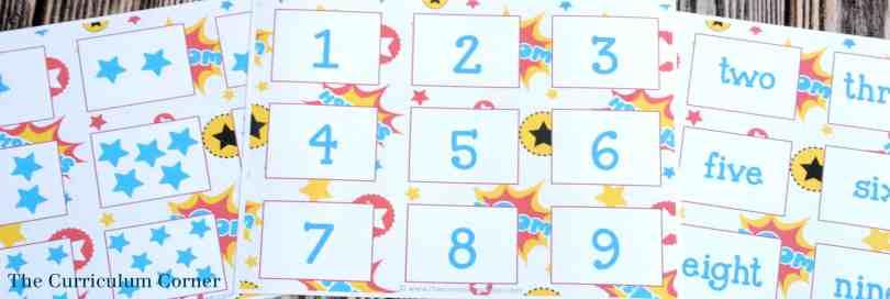 FREE! 14 FREE Superhero Math & Literacy Centers from The Curriculum Corner | kindergarten & 1st grade classrooms