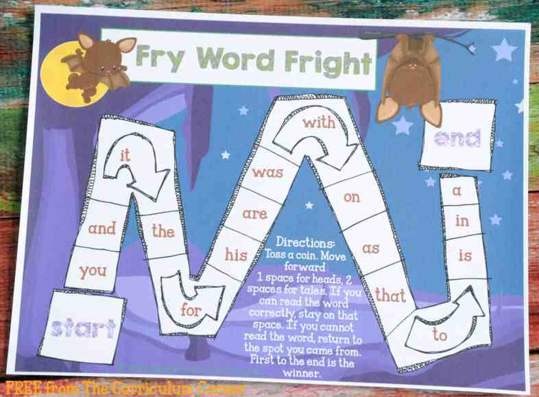 Fry Word Fright FREE COLLECTION! 20 Halloween Themed Math & Literacy Centers from The Curriculum Corner