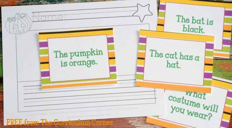 Fluency Sentences FREE COLLECTION! 20 Halloween Themed Math & Literacy Centers from The Curriculum Corner