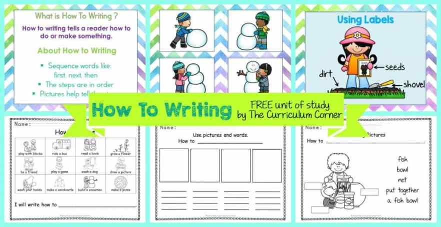 FREE How-To Writing Unit of Study from The Curriculum Corner