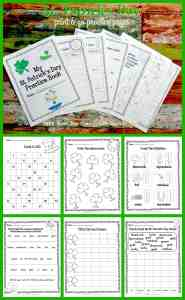 FREE St. Patrick's Day Print & Go Practice Pages from The Curriculum Corner | computation, number sense, word work, writing & more! FREEBIE