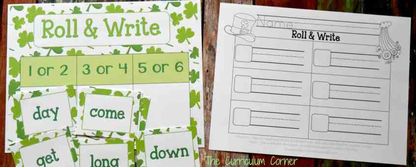 FREE St. Patrick's Day Math & Literacy Centers from The Curriculum Corner Fry Word Games