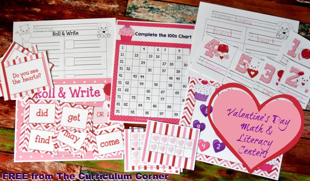 FREE Valentine's Day Centers from The Curriculum Corner