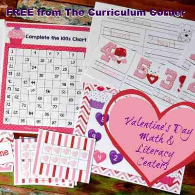 Valentine's Math & Literacy Centers