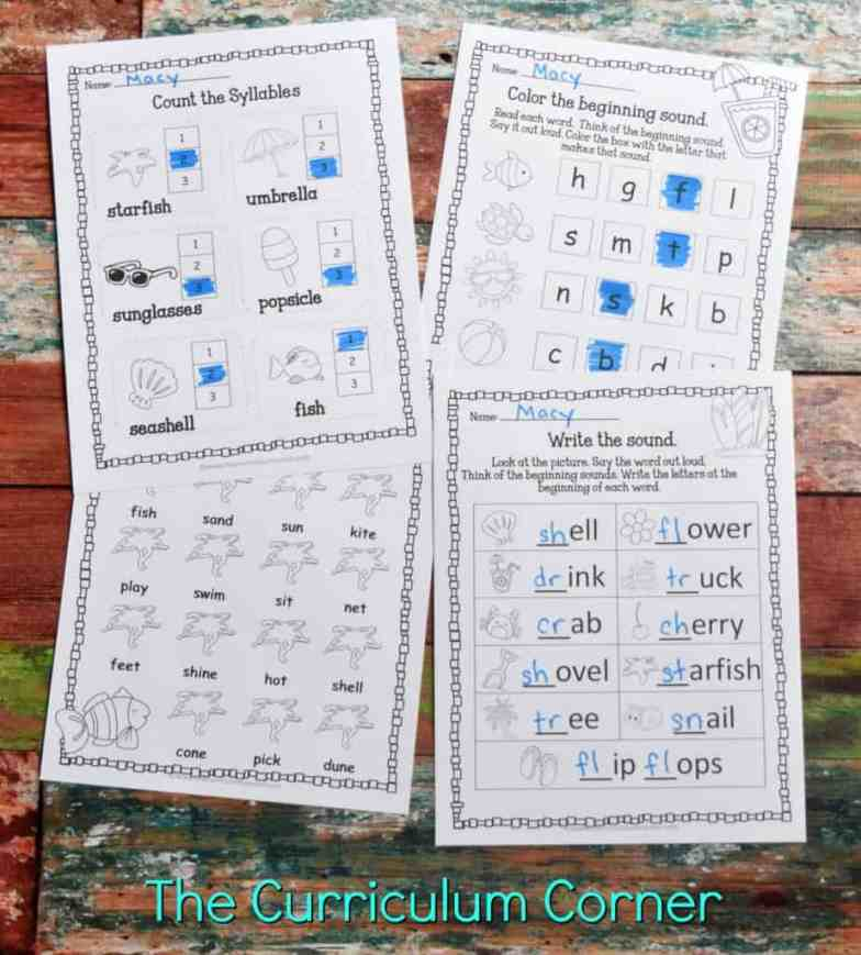 FREE Summer Print & Go Pages | Summer Worksheets from The Curriculum Corner 4