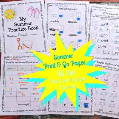 Summer Print & Go Pages