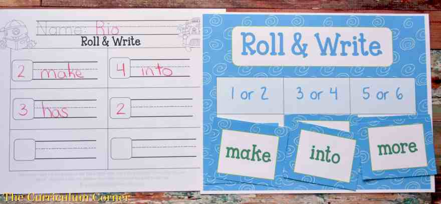 FREE Back to School Centers from The Curriculum Corner 7