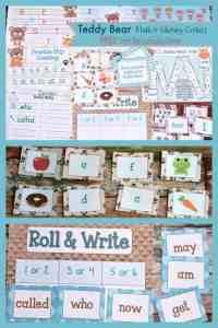 FREE Teddy Bear Math & Literacy Centers