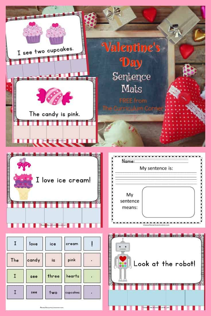 FREE Valentine's Day Scrambled Sentences from The Curriculum Corner