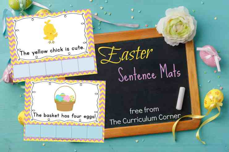 This set of Easter scrambled sentence mats provides you with a free literacy activity for your kindergarten classroom.
