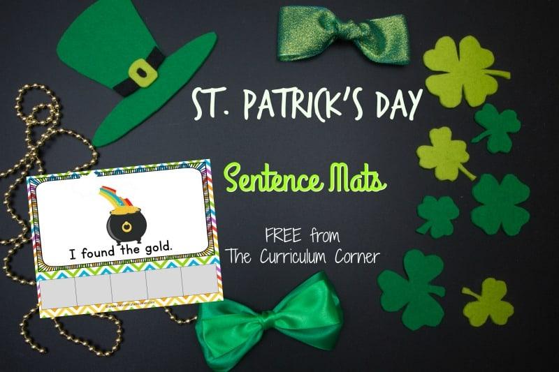 This set of St. Patrick's Day sentence mats provides free St. Patrick's Day scrambled sentences for your kindergarten classr