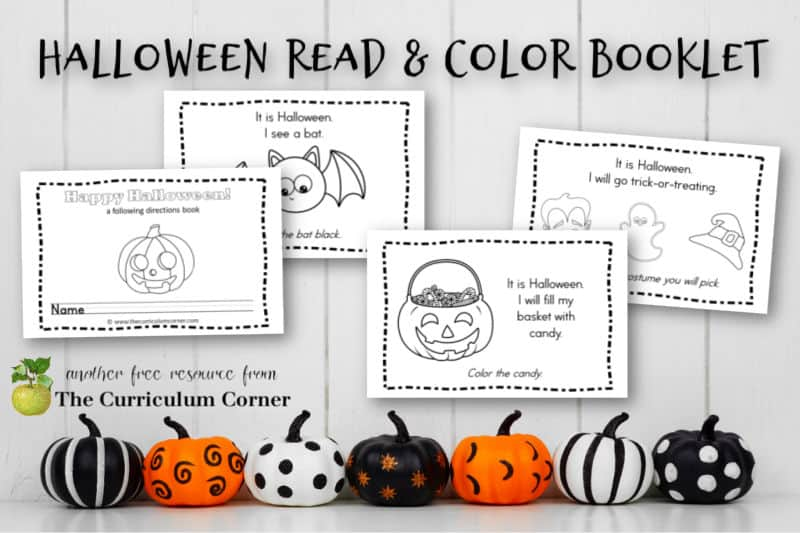 This simple Halloween following directions booklet is perfect for your kinders! It is a great free addition to your fall curriculum.