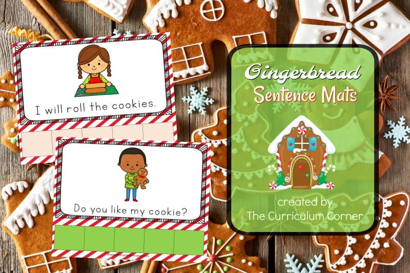 This set of Gingerbread scrambled sentence mats provides an engaging and fun literacy center for your kindergarten classroom.