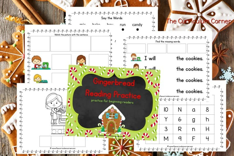 This gingerbread reading binder is designed to help you create a quick and ready to go binder for your young readers.