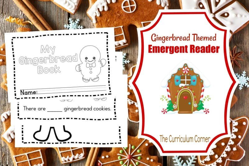 This simple gingerbread emergent reader is perfect for your kinders! It will be a great free addition to your December curriculum.