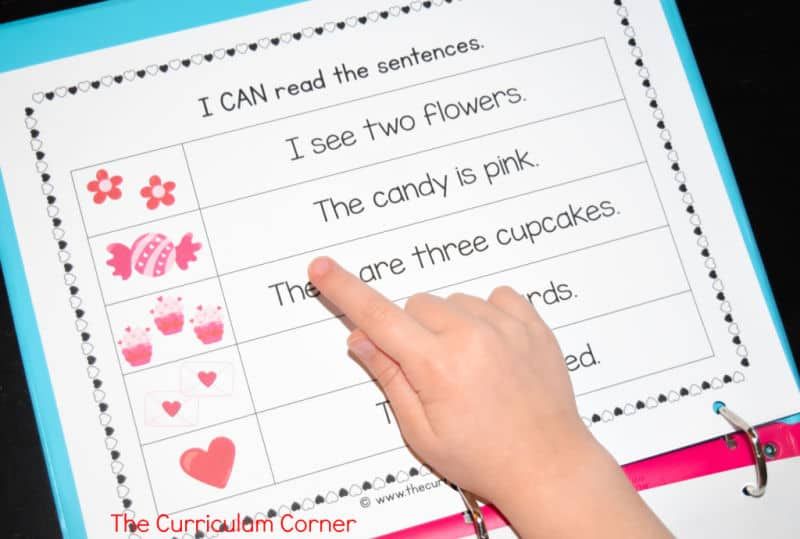Valentine's Day Reading Intervention Binder free from The Curriculum Corner