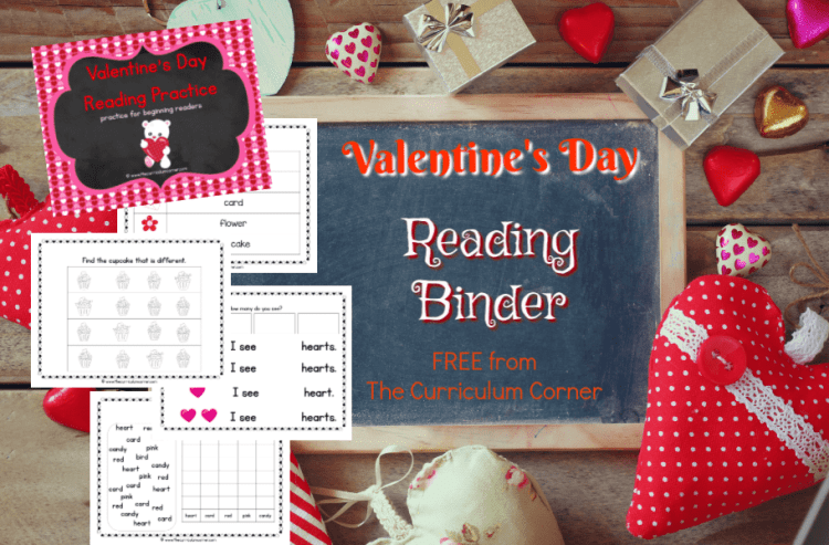 This Valentine's Day reading binder is designed to help you create a quick and ready to go binder for your young readers.