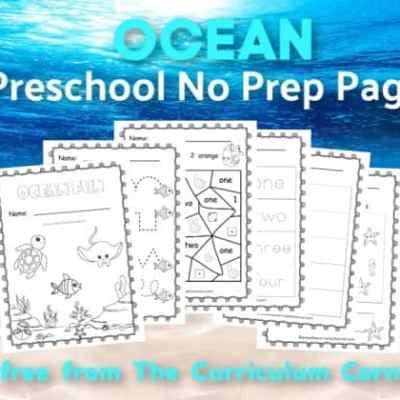 Ocean Preschool Print & Go