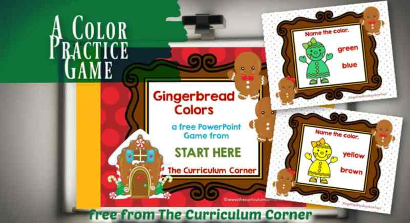 gingerbread colors game