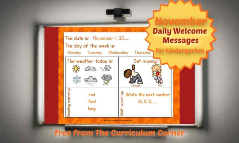 November Daily Welcome Messages