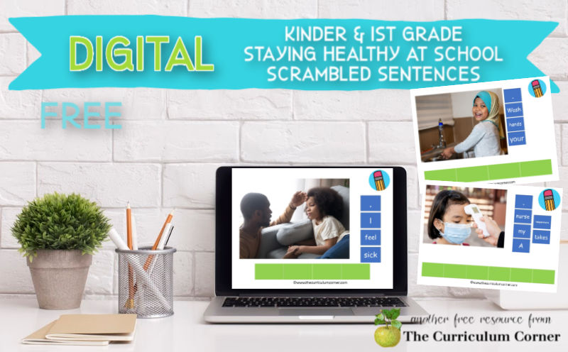These free staying healthy at school scrambled sentences are a new literacy center for computer and tablet use for your kindergarten or first grade classroom.