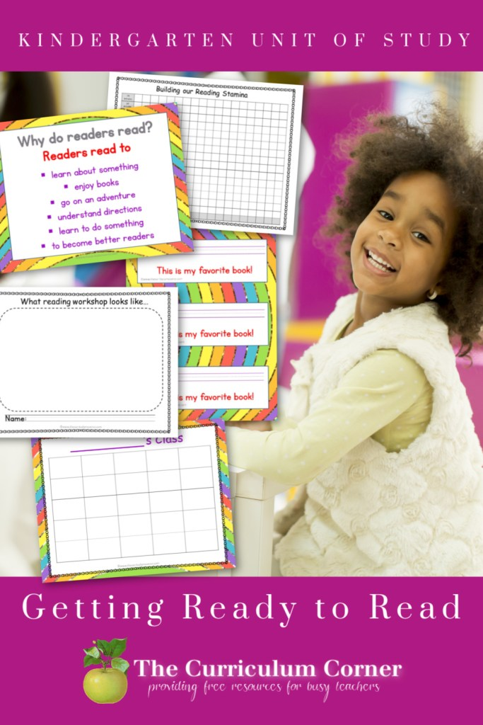 Our Getting Ready to Read Unit of Study will be a great way to start your reading workshop in your kindergarten classroom.