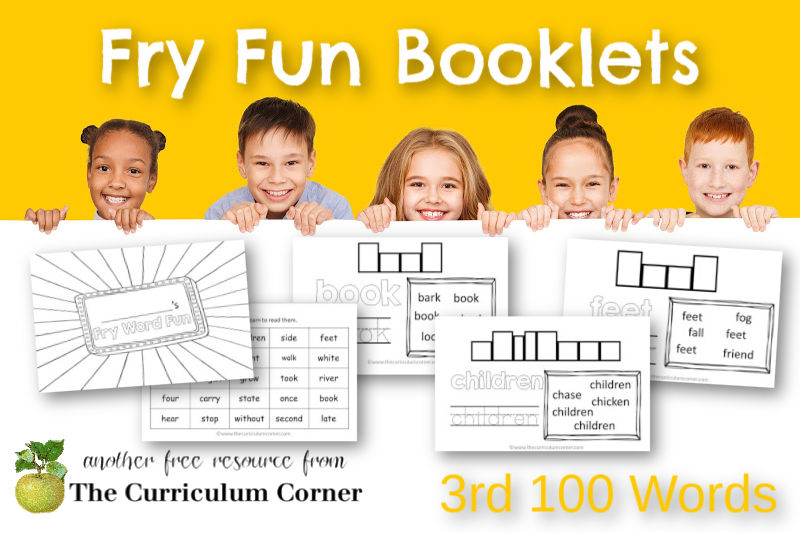 These 3rd 100 Fry Word Fun Booklets will help your children work on the third set of Fry Sight Words.