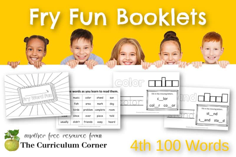 These 4th 100 Fry Word Fun Booklets will help your children work on the fourth set of Fry Sight Words.