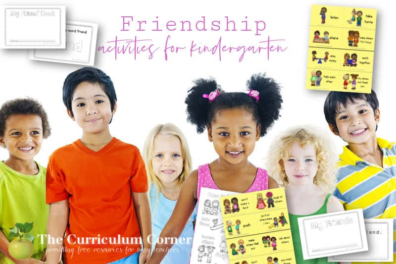 These free friendship lesson plans and printables will help children build friendships in the classroom.