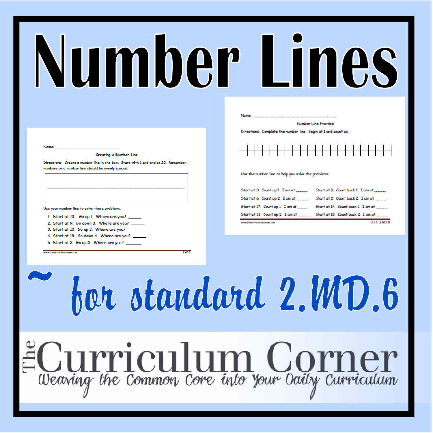 Numbers Counting Ordering 1st 2nd Grade Number Sense Unit – Free Math Worksheets Number Lines
