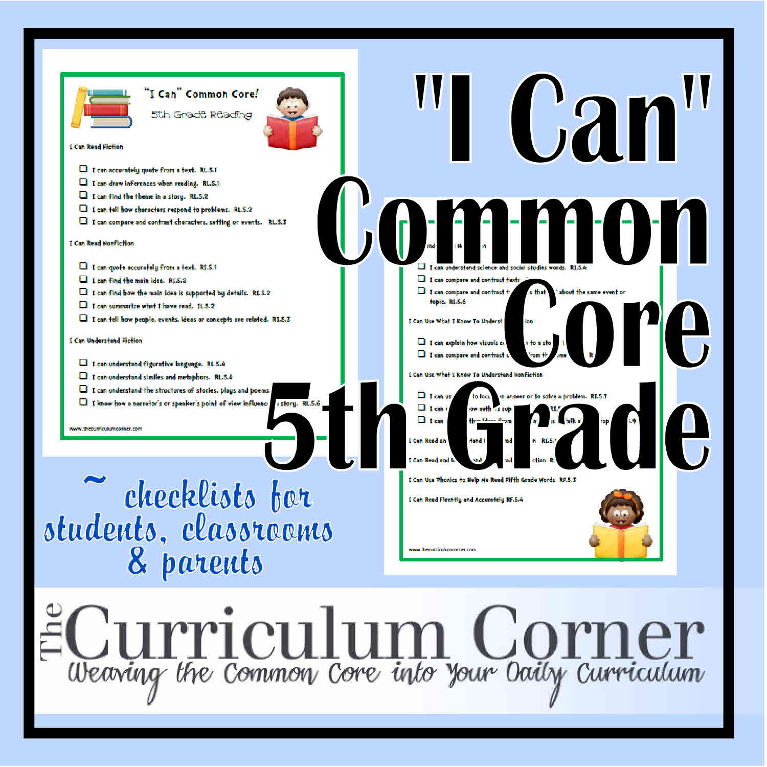 picture relating to 5th Grade Common Core Standards Printable identify I Can\