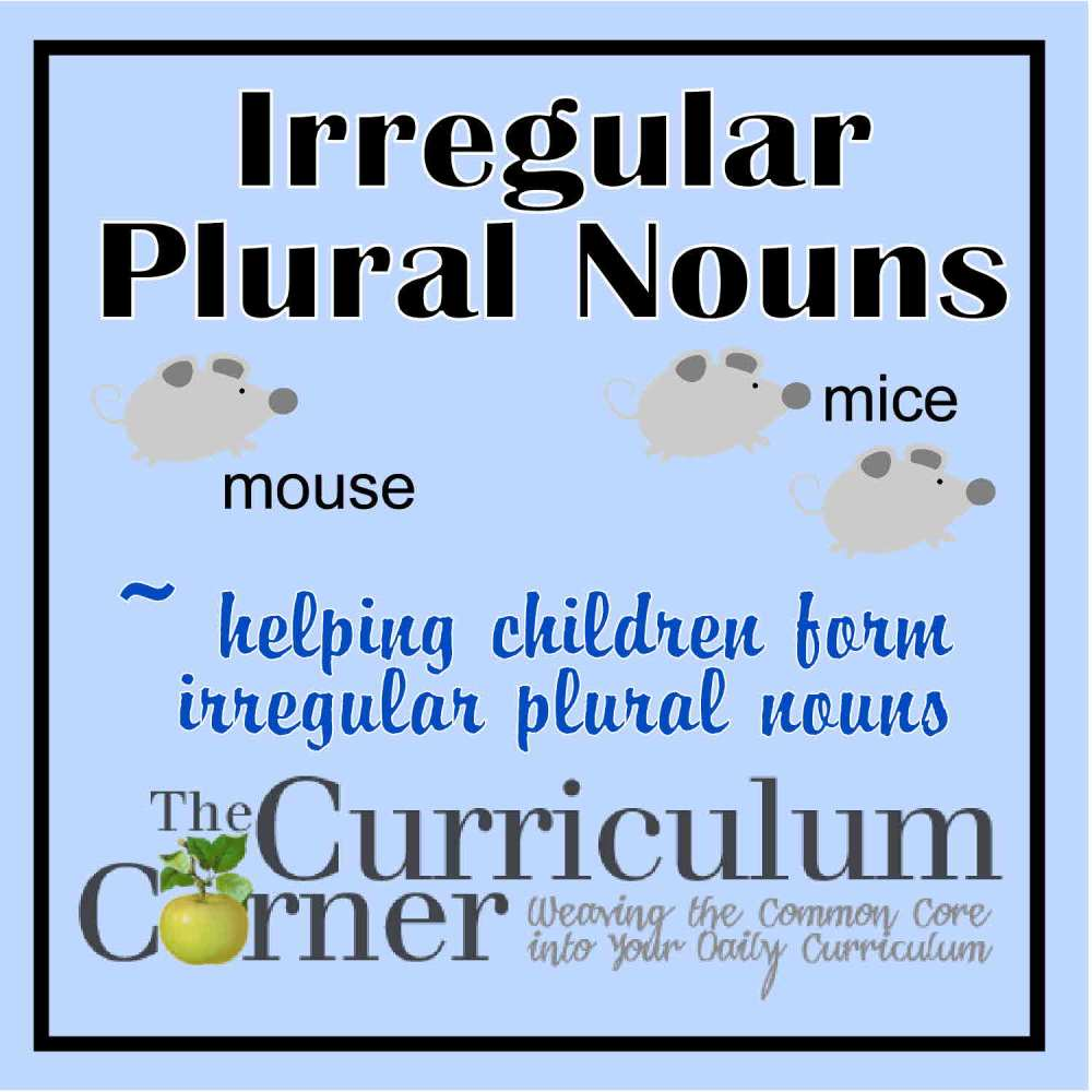 medium resolution of Irregular Plural Nouns - The Curriculum Corner 123