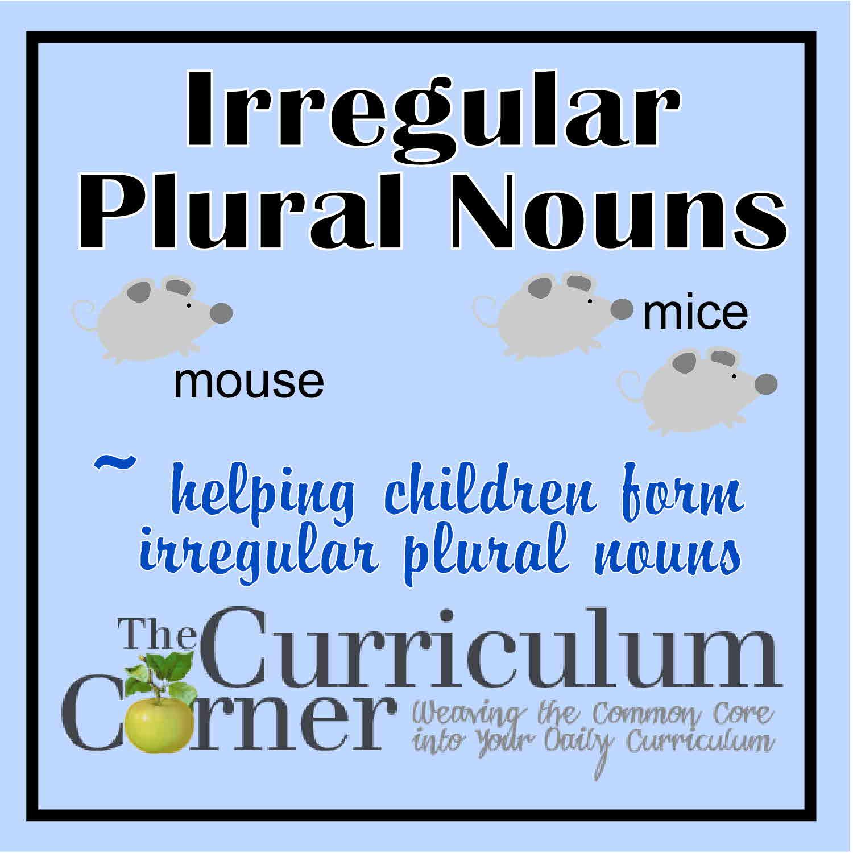 hight resolution of Irregular Plural Nouns - The Curriculum Corner 123
