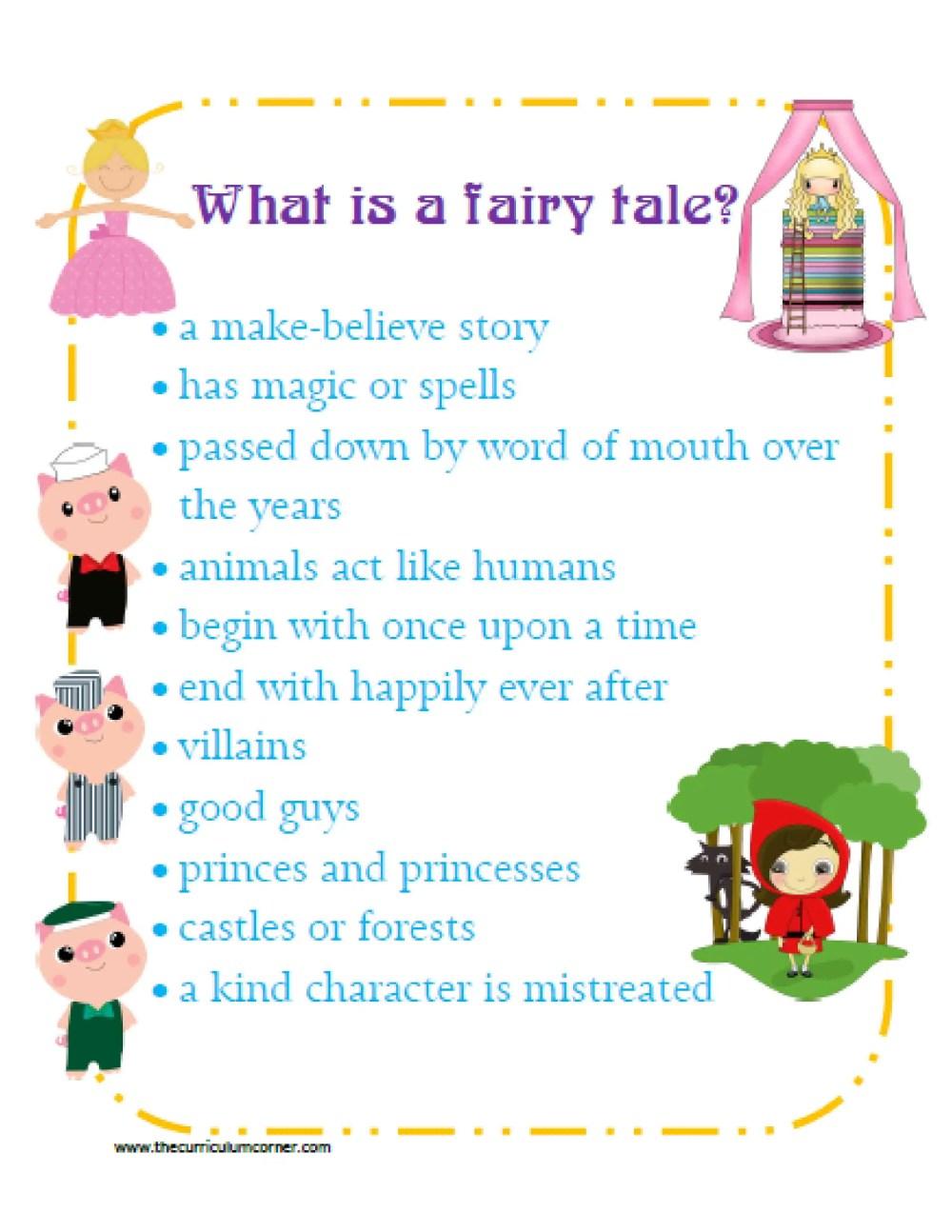 medium resolution of Fairy Tale Reading Unit - The Curriculum Corner 123