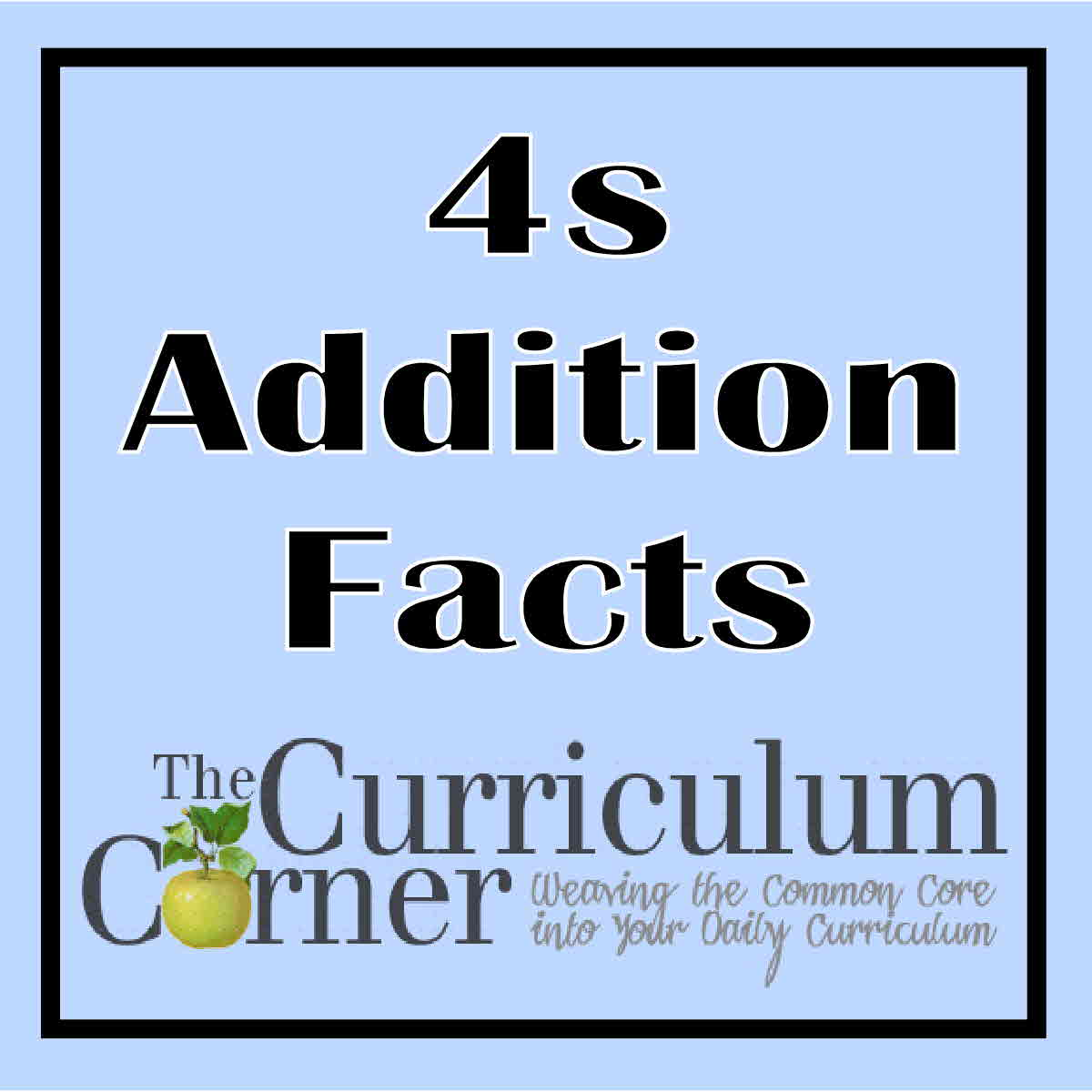 4s The Curriculum Corner 123 – Addition Timed Test Worksheets