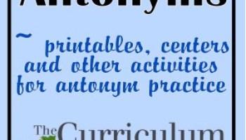 Synonyms - The Curriculum Corner 123