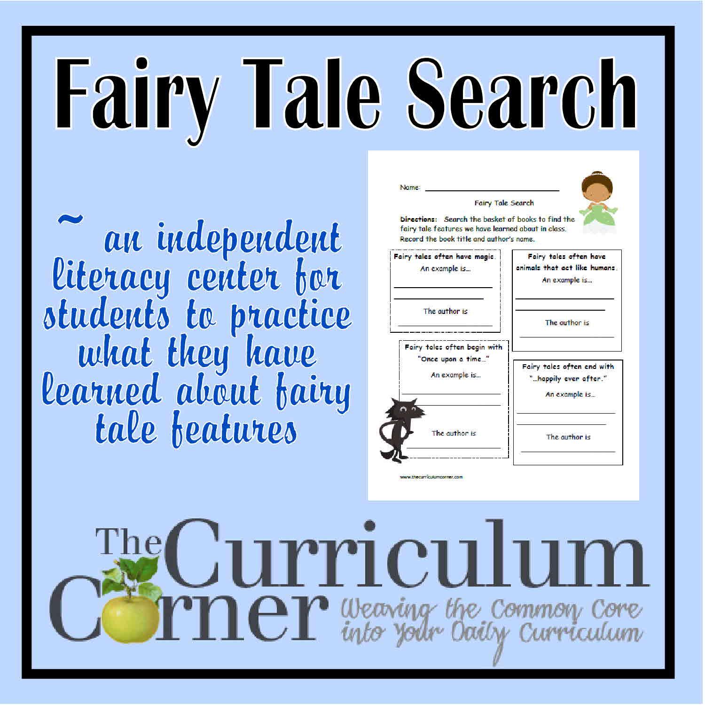 Fairy Tale Search - The Curriculum Corner 123
