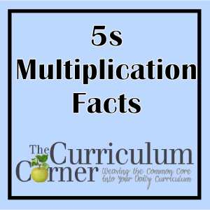 5s Multiplication Facts Practice Pages from The Curriculum Corner