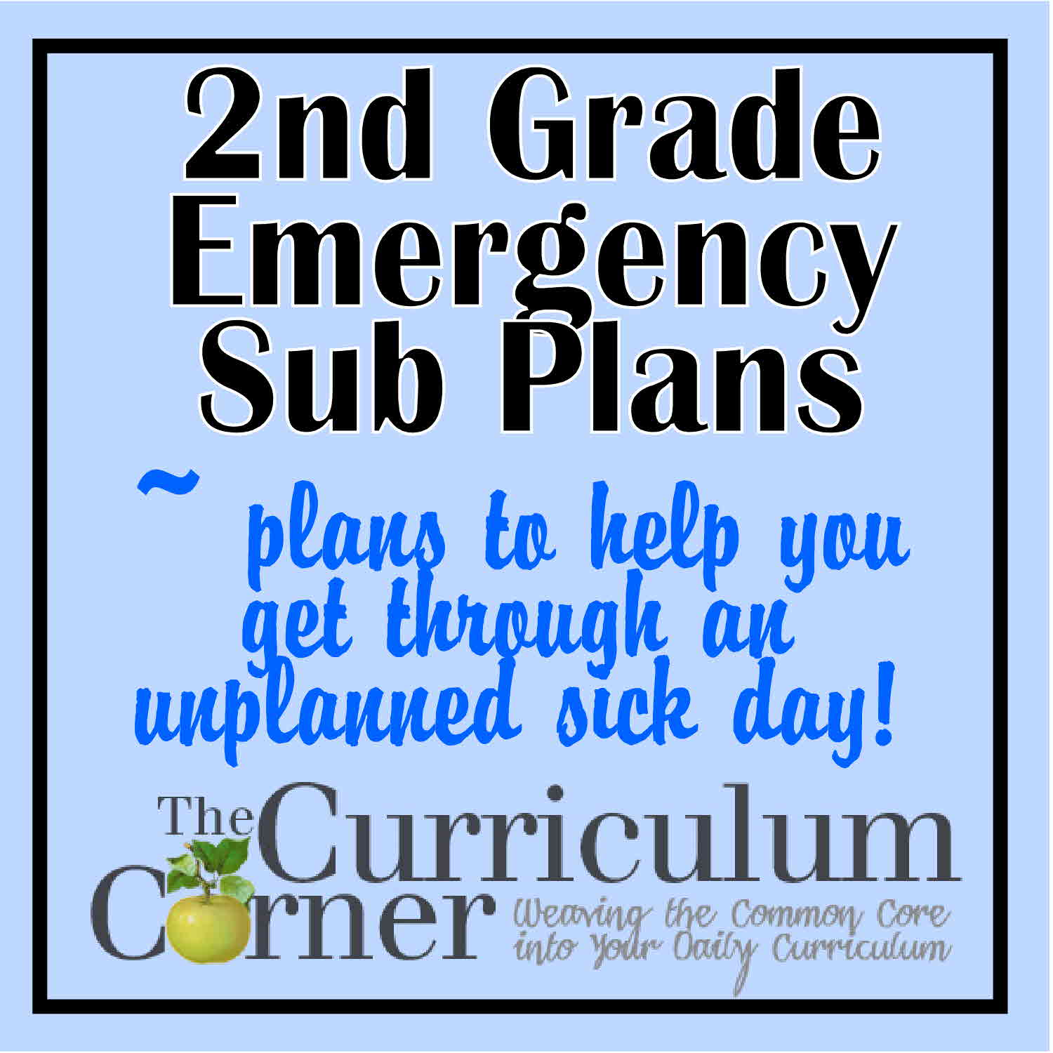 2nd Grade Emergency Sub Plans