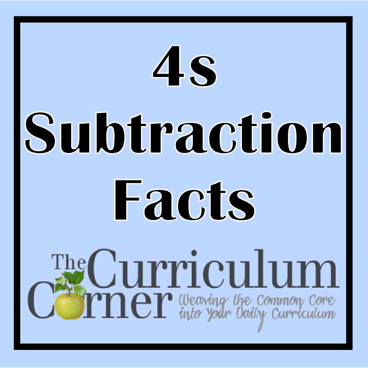 100 Subtraction Facts Timed Test Worksheet