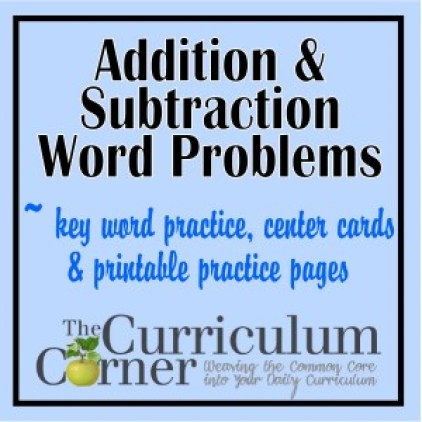 FREE Addition and Subtraction Word Problems from The Curriculum Corner