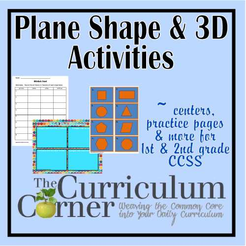 small resolution of Plane \u0026 3D Shapes Activities - The Curriculum Corner 123