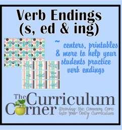Verb Endings (-s [ 1500 x 1500 Pixel ]