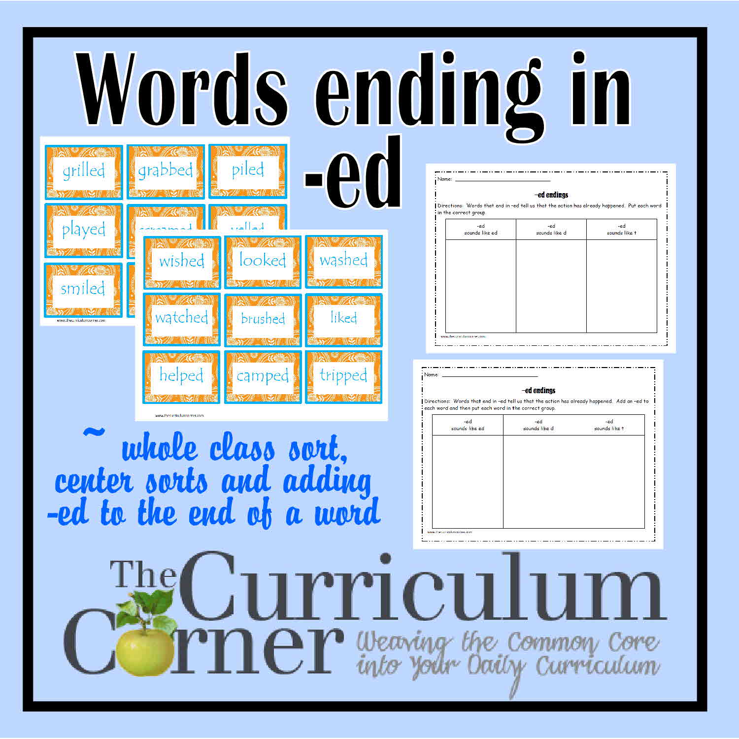 Ed Word Endings