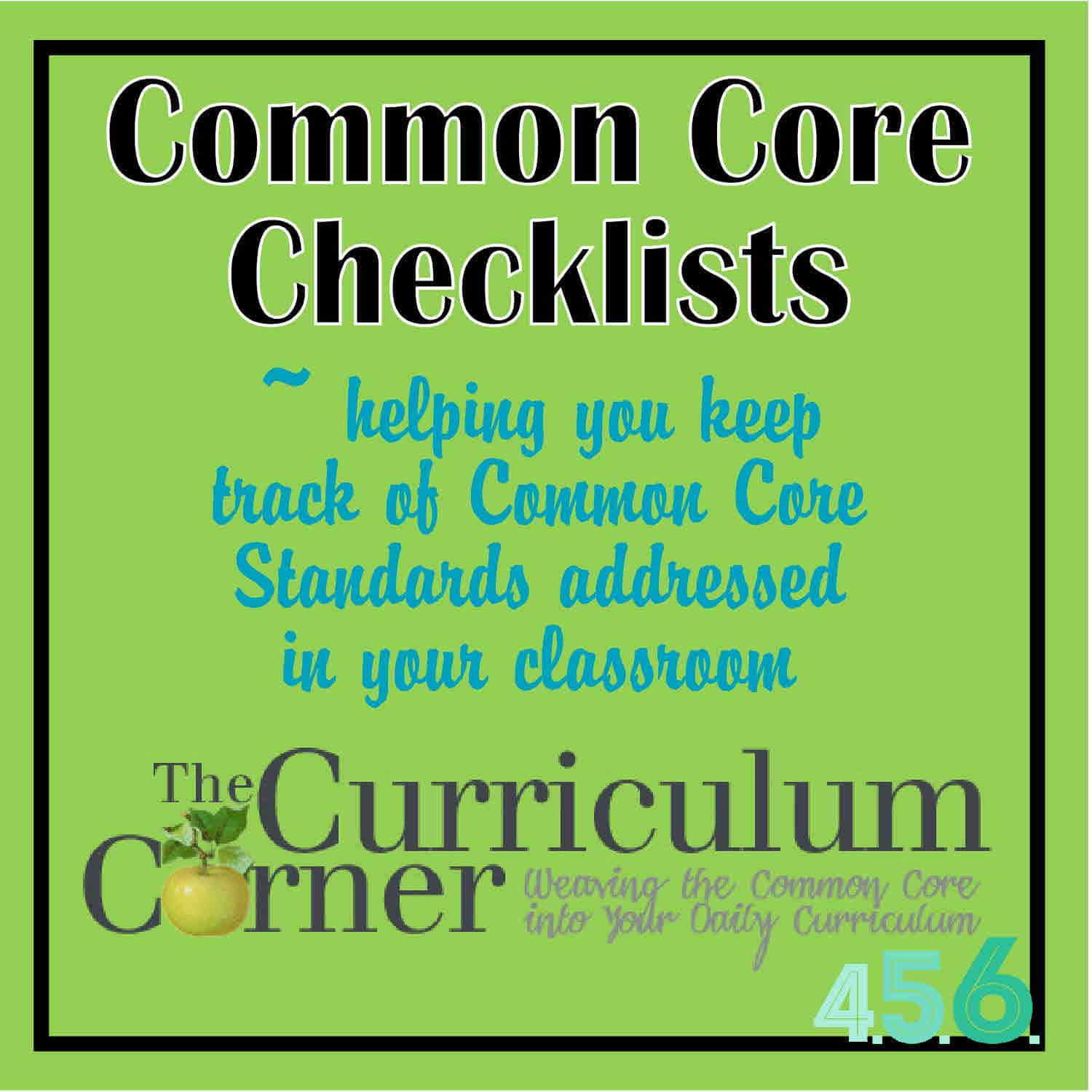 Seventh And Eighth Grade Common Core Checklists By The
