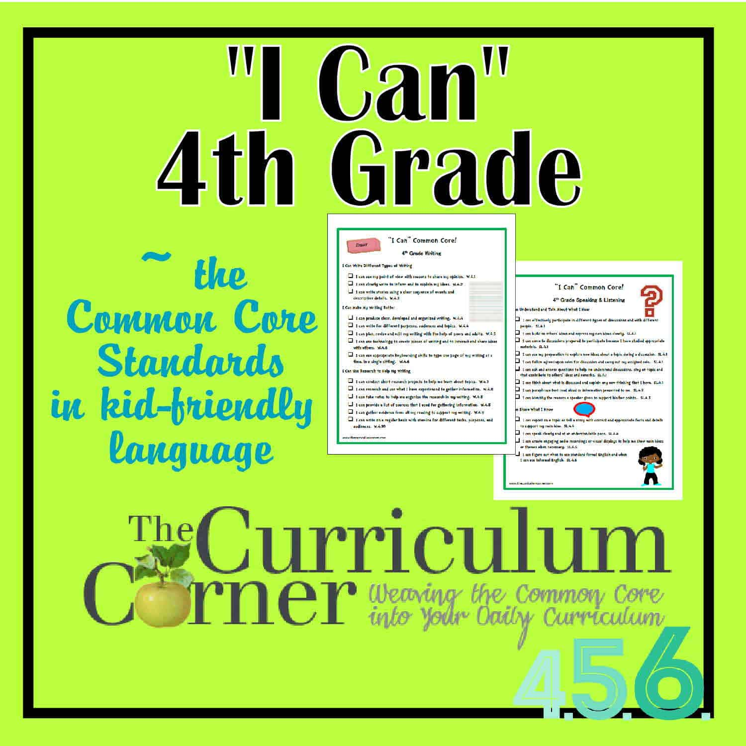 I Can Common Core 4th Grade