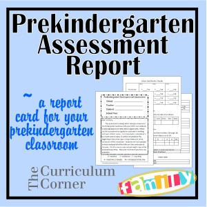 Prekindergarten Assessment Report