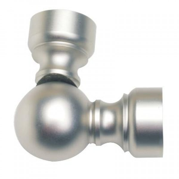 stainless steel swivel corner connector for 1 3 16 curtain rods each